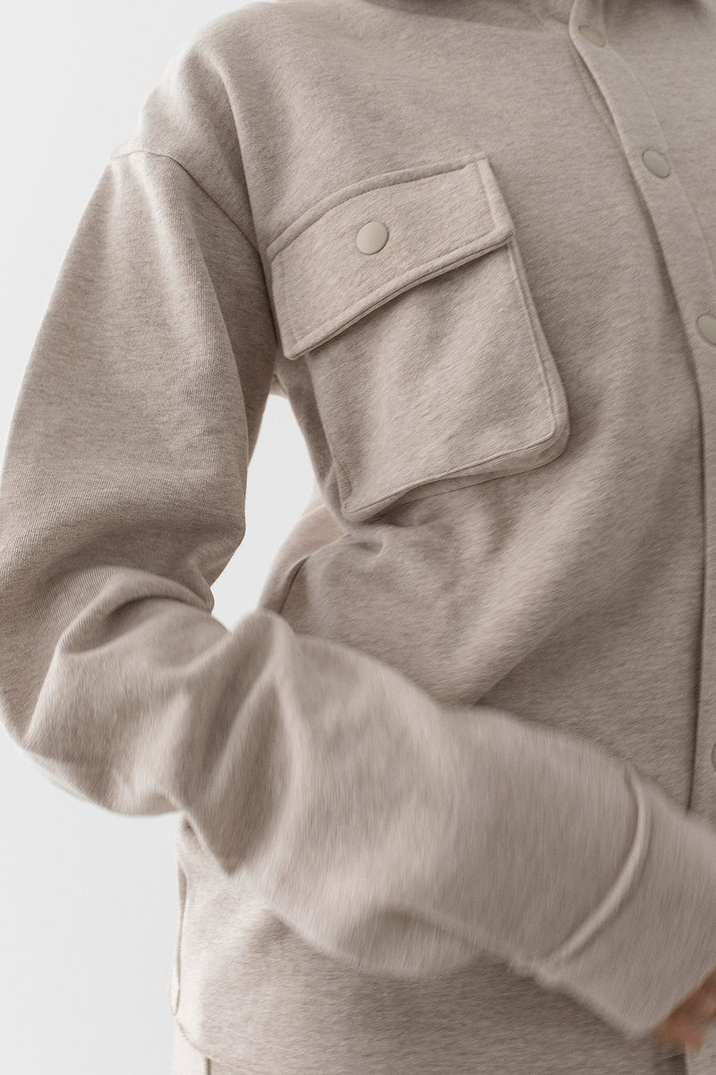 100% Recycled Cargo Jersey Overshirt