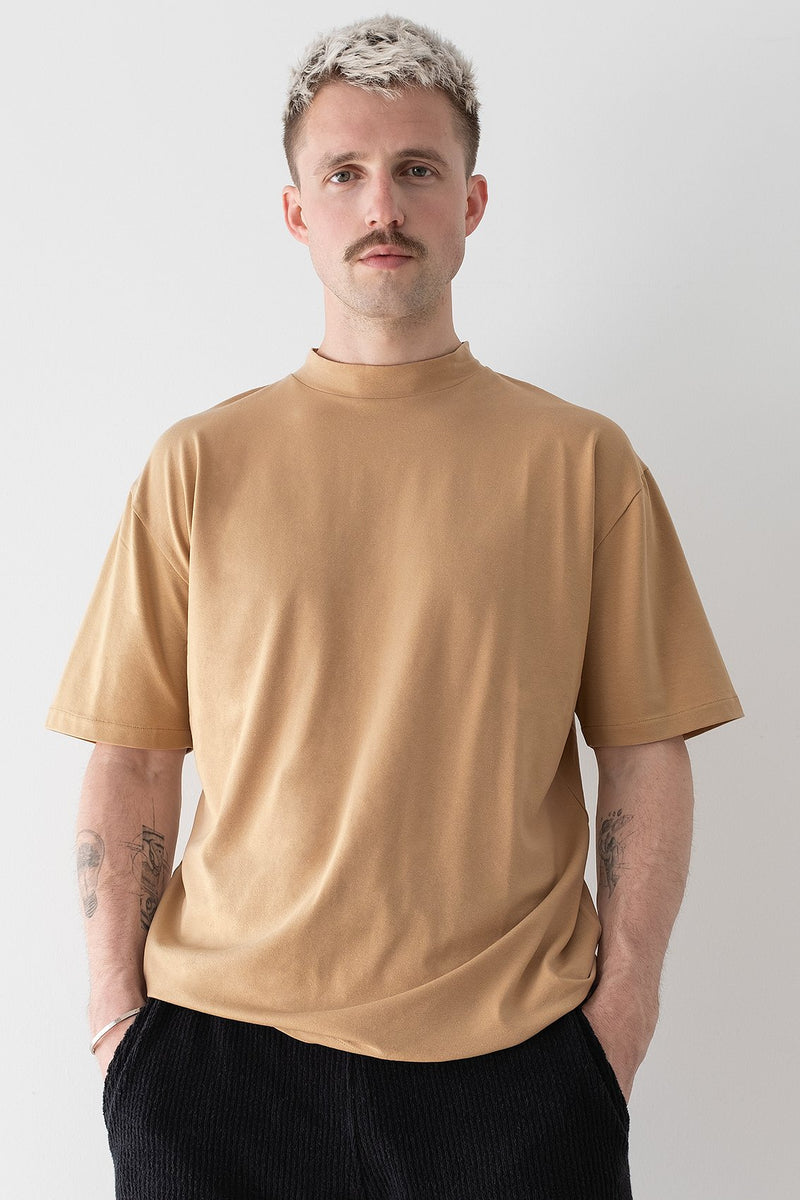 Basic Mock Neck Relaxed T-shirt