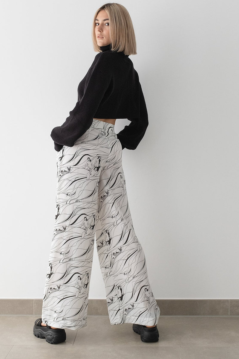 100% Recycled Wide Leg Pants