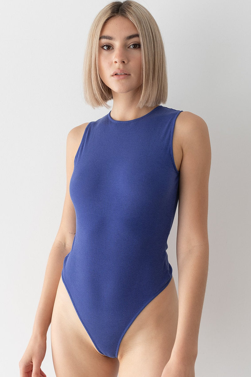 Open Back Ribbed Bodysuit