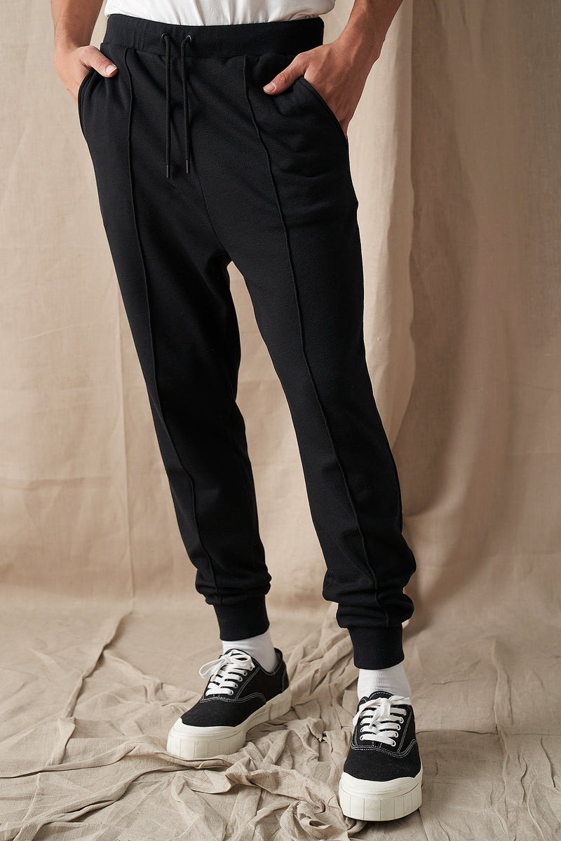 100% Organic Front Seam Tapered Joggers