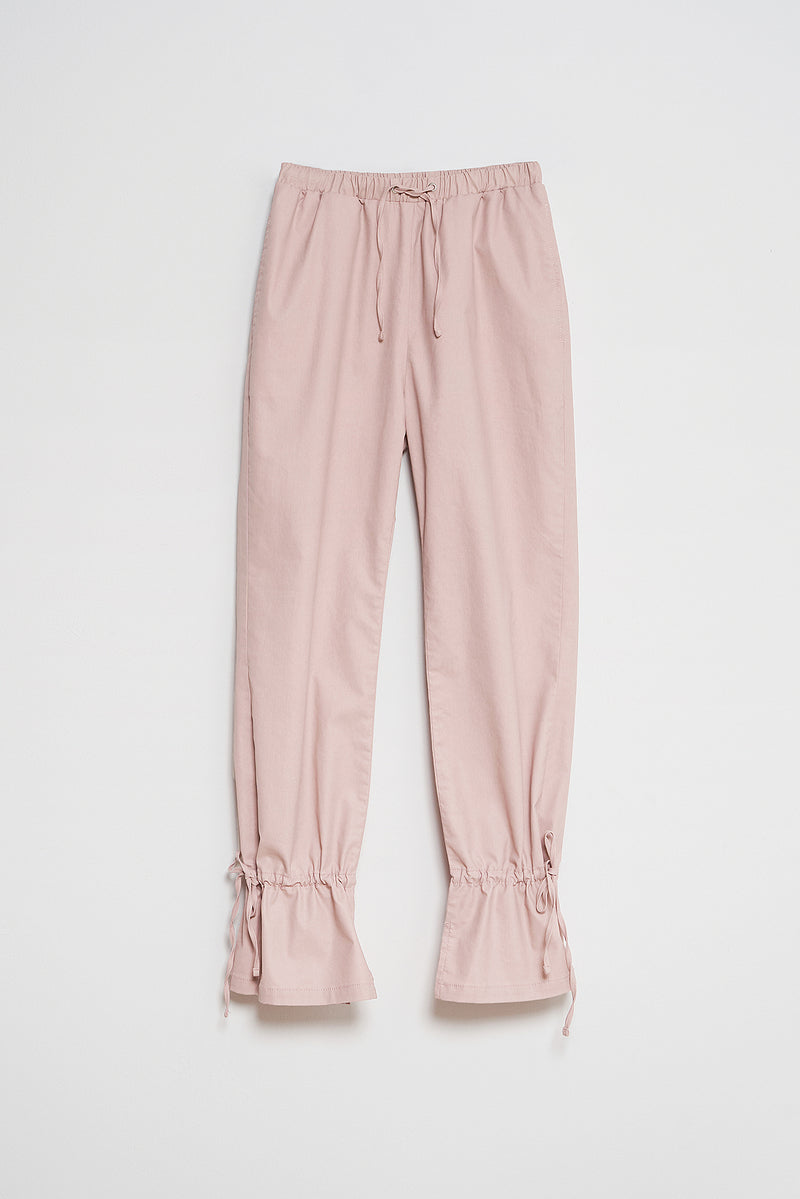 Coated Denim Ankle Tie Joggers