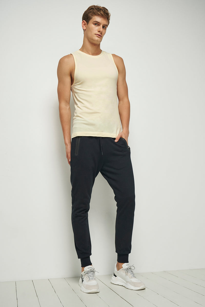 Bonded Zipper Slim Fit Joggers