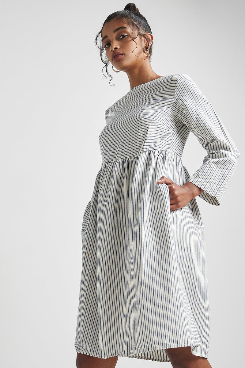 Beach Fire Dress Pin Stripe
