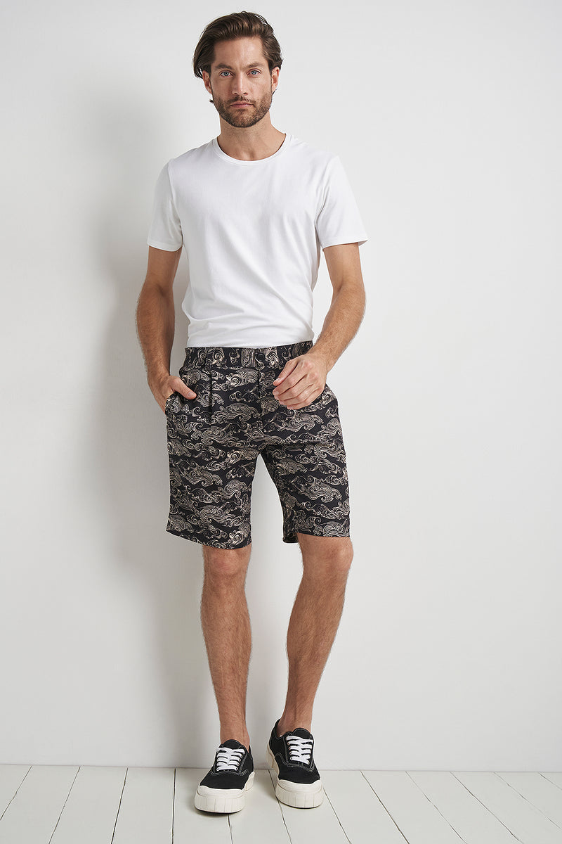 Bobby Pleat Shorts Uluwatu Black