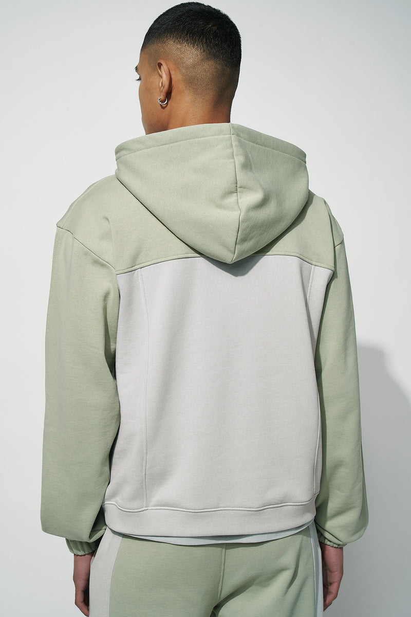 100% Recycled Colour Block Hoodie