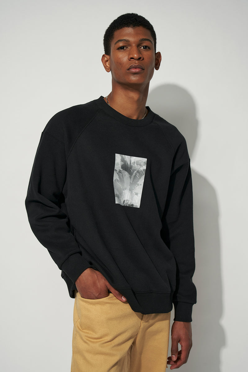 100% Recycled Leaf Oversized Sweatshirt
