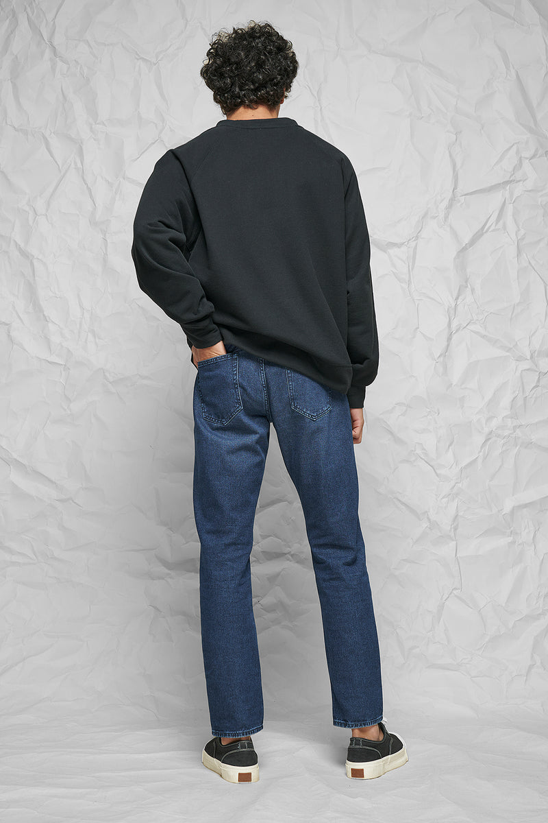 100% Organic Mid Rise Regular Tapered Jeans