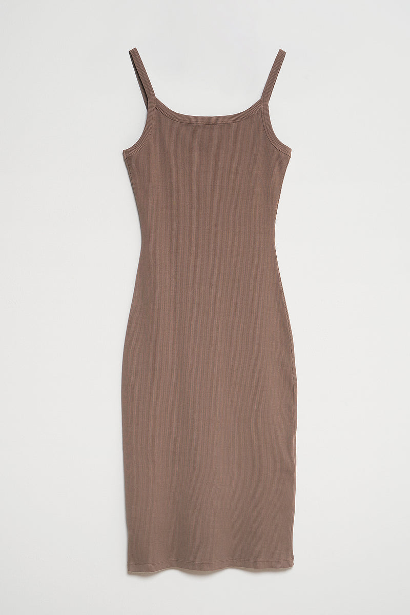 Natural Dye Ribbed Midi Chemise