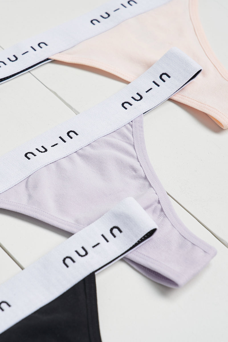 3 Pack Branded Seamless Thong