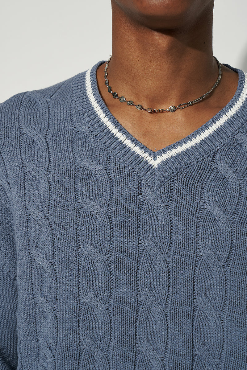 100% Upcycled Blend Oversized V-Neck Unisex Jumper
