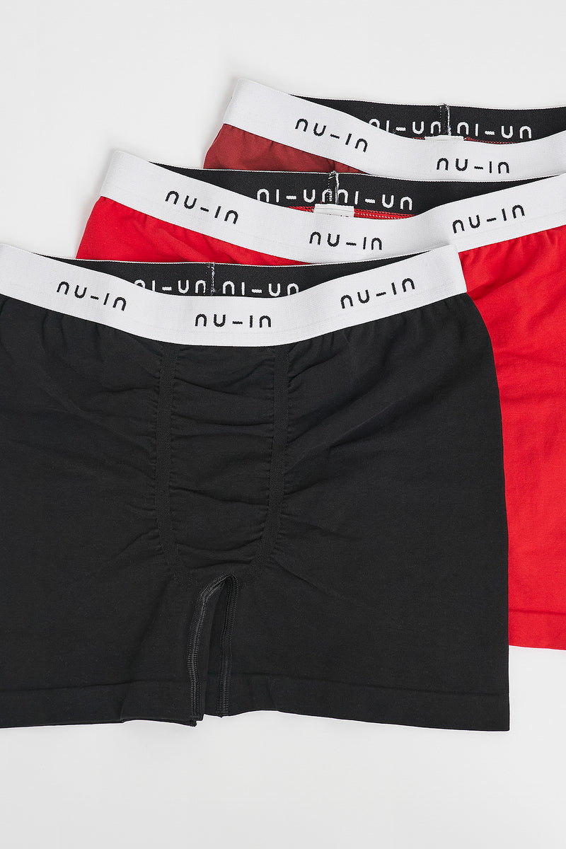 3 Pack Seamless Low Rise Trunks