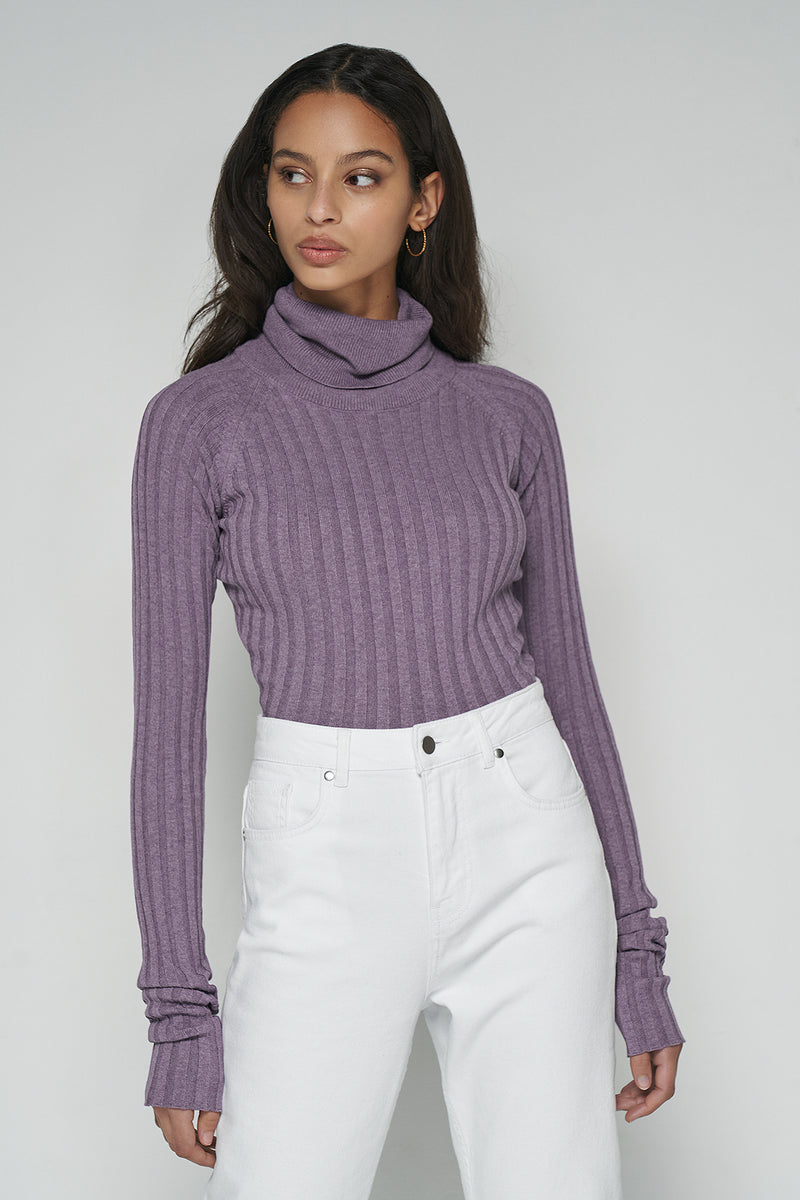 Extra Long Sleeve Ribbed Bodysuit