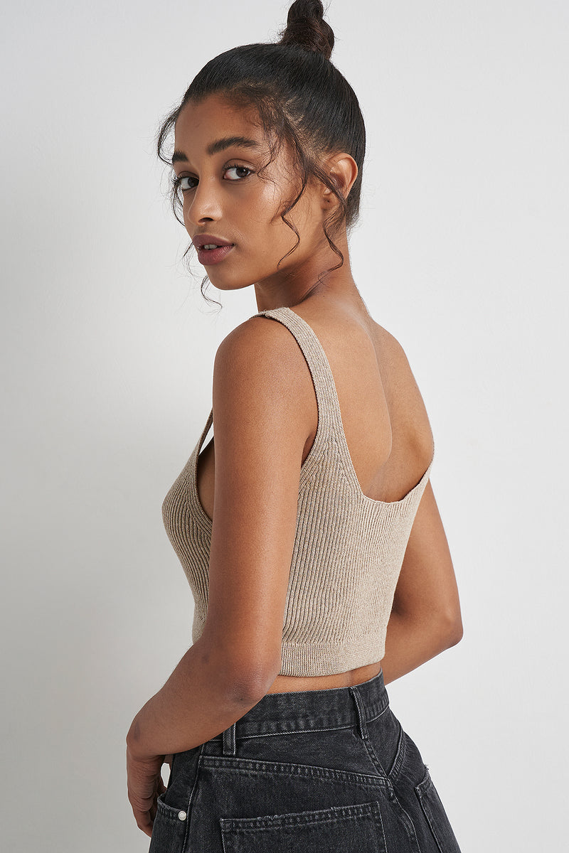 Ribbed Knitted Bralet