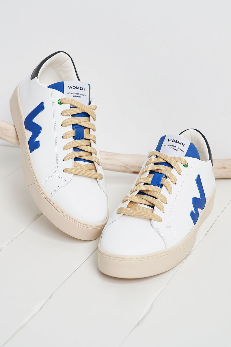 Snik White Blue Black Trainers