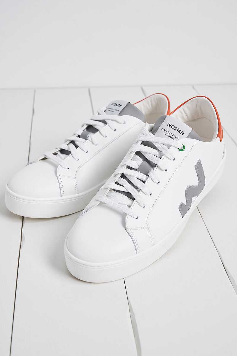 Snik White Grey Orange Trainers