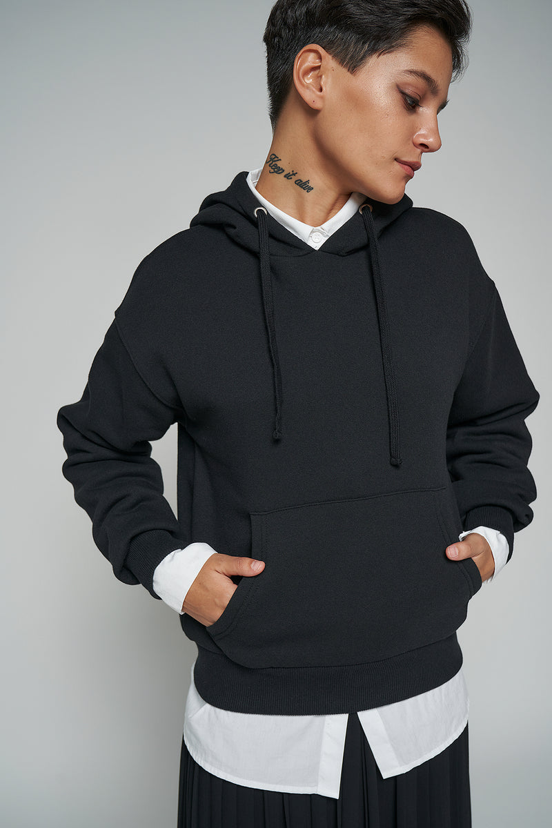 100% Recycled Basic Front Pocket Hoodie