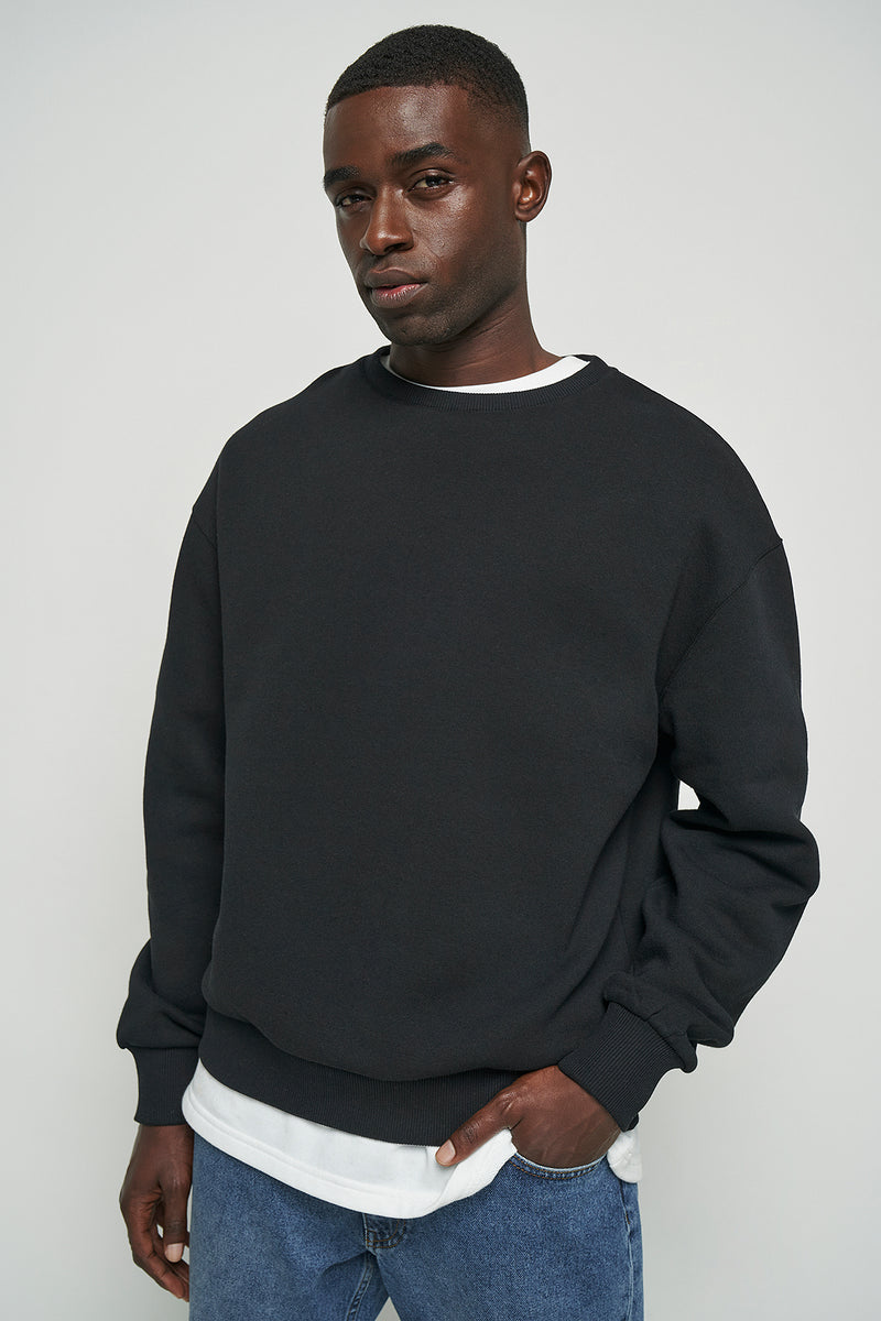 100% Recycled Basic Loose Fit Sweatshirt