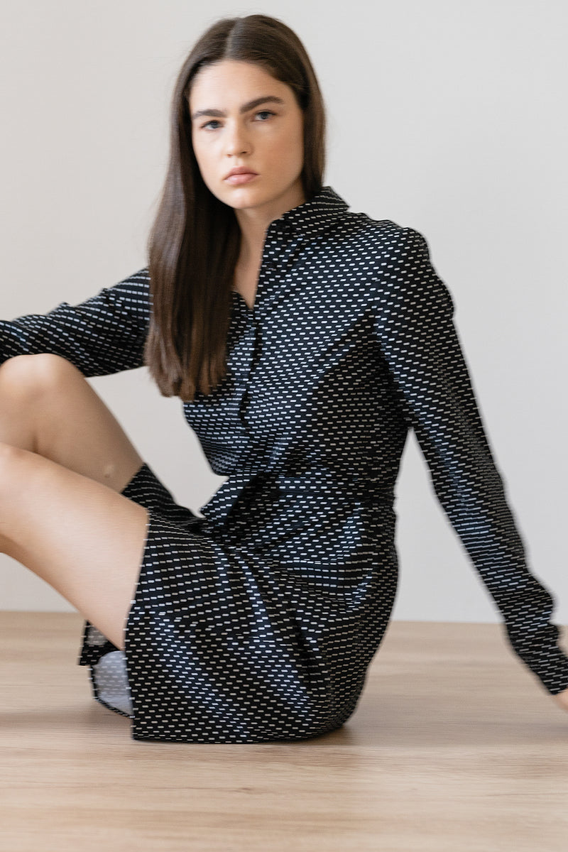 Belted Shirt Mini Dress