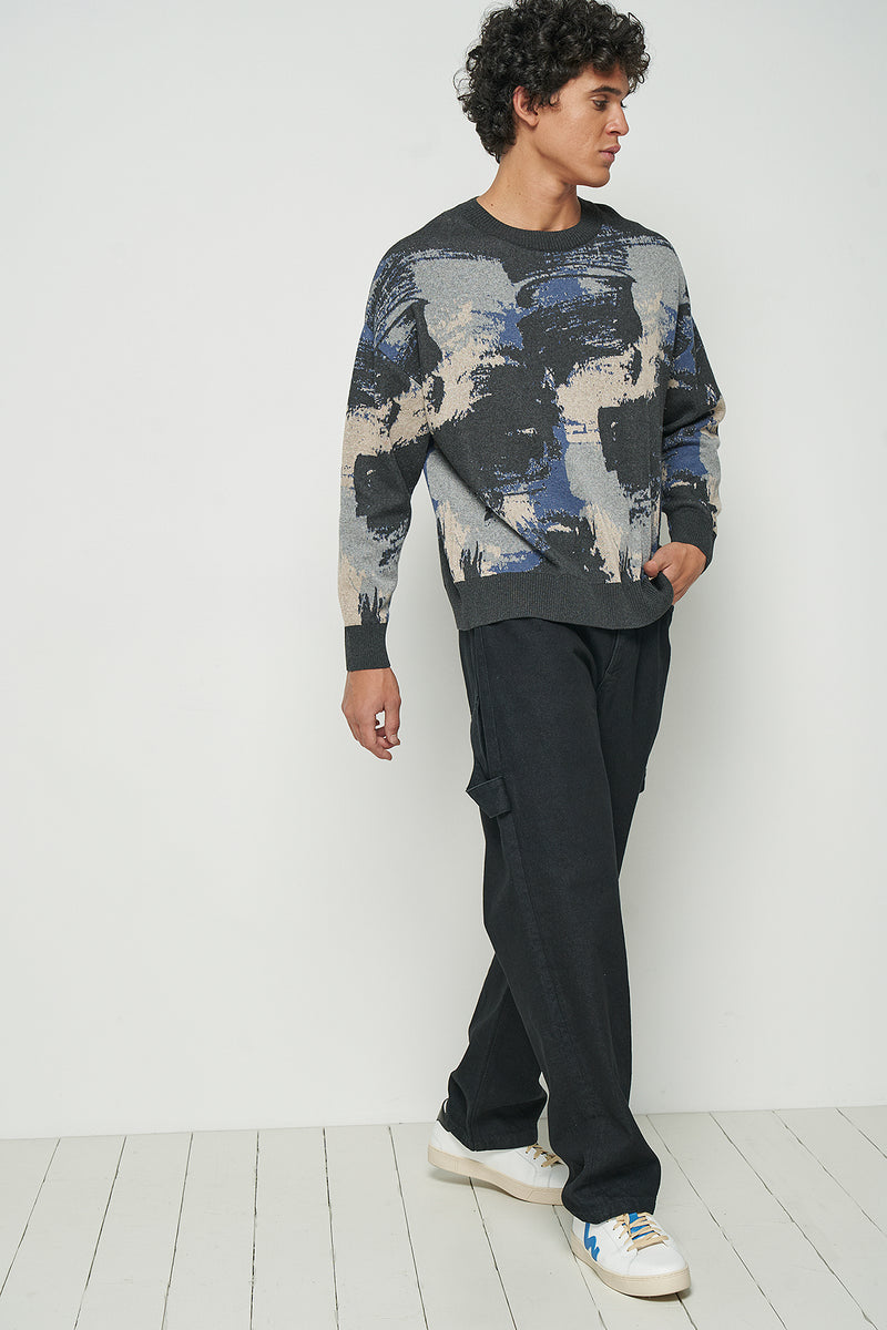 100% Recycled Camo Knit Jumper