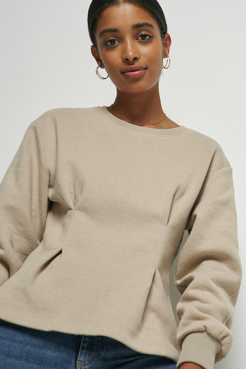 100% Recycled Cinched Waist Sweatshirt