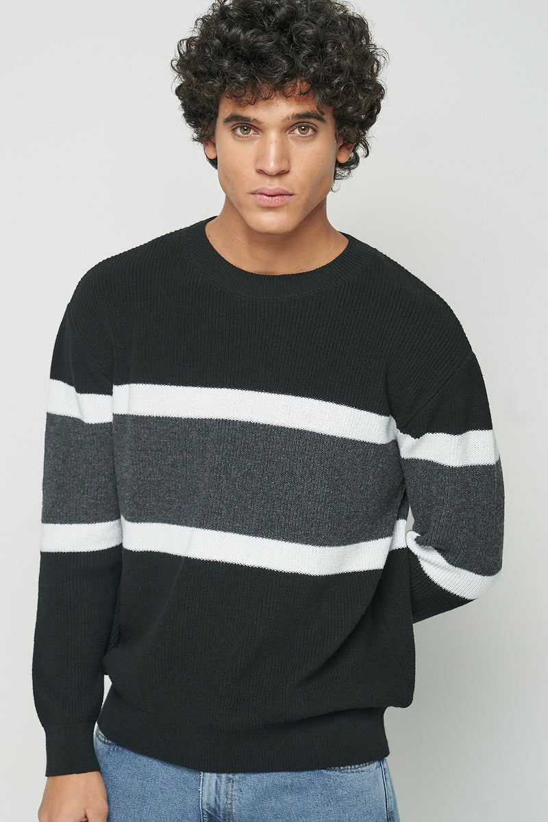 100% Recycled Crew Neck Stripe Jumper