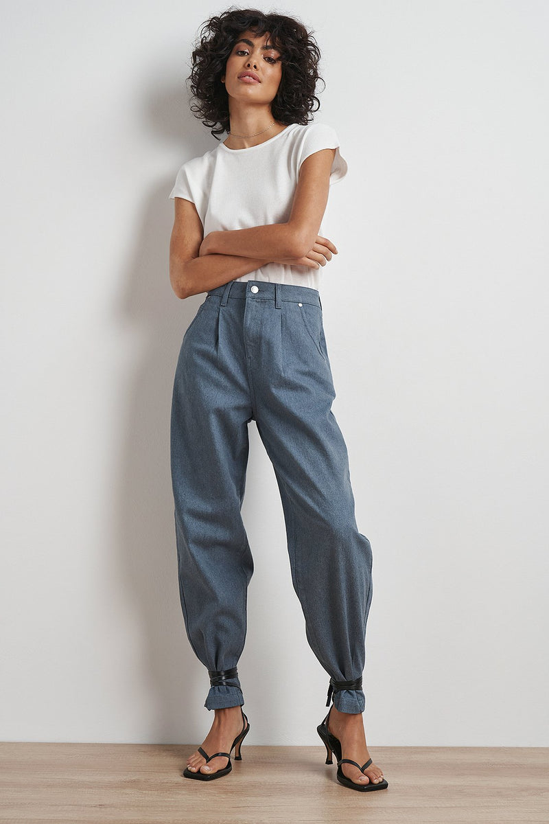 Upcycled Cropped Slouchy Jeans