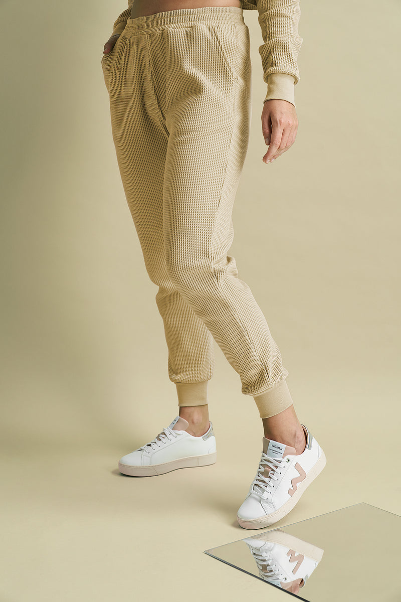 Relaxed Fit Waffle Joggers