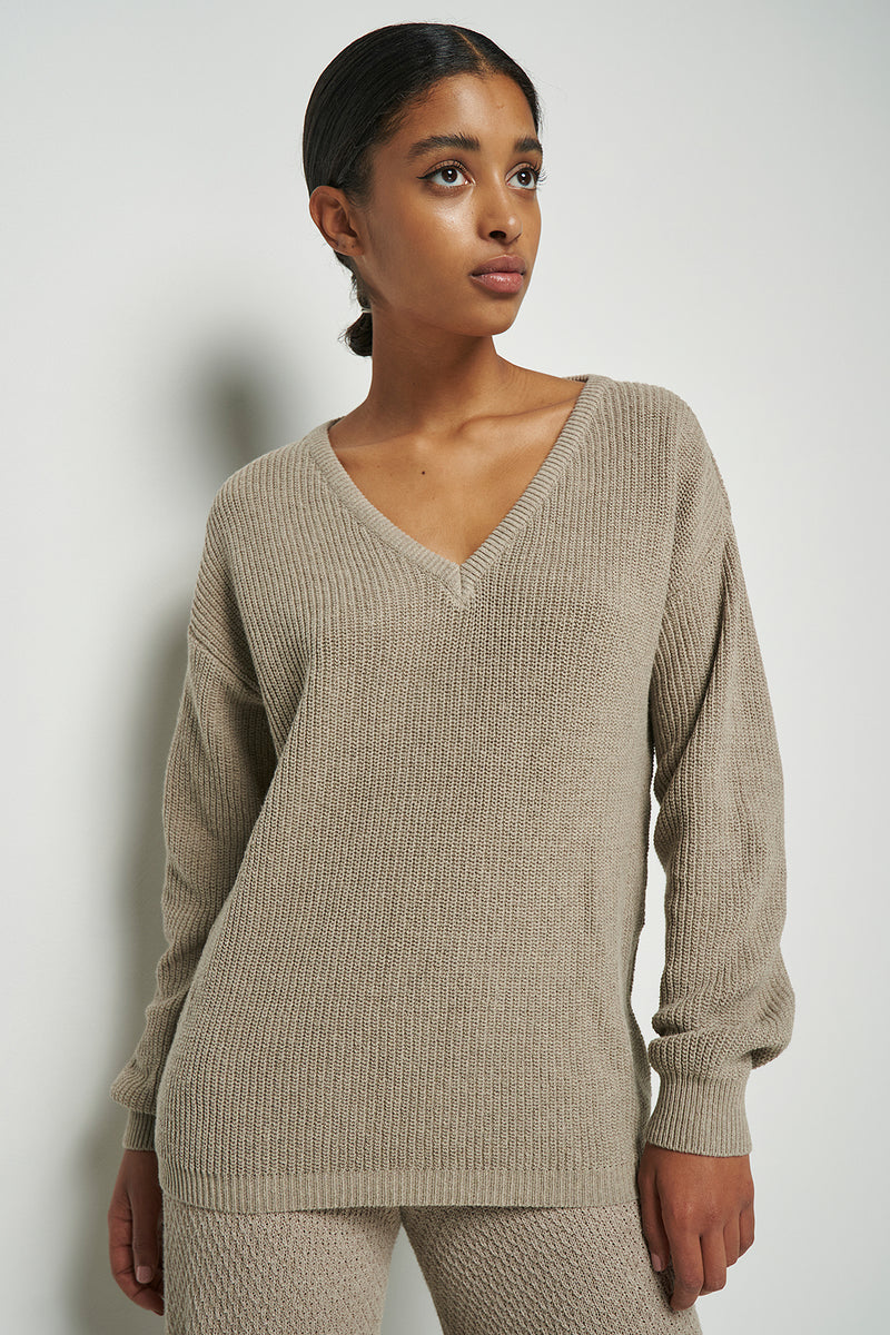Deep V-Neck Jumper