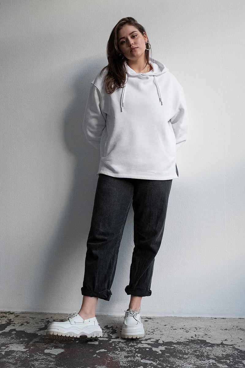 100% Recycled Double Drawcord Side Split Hoodie