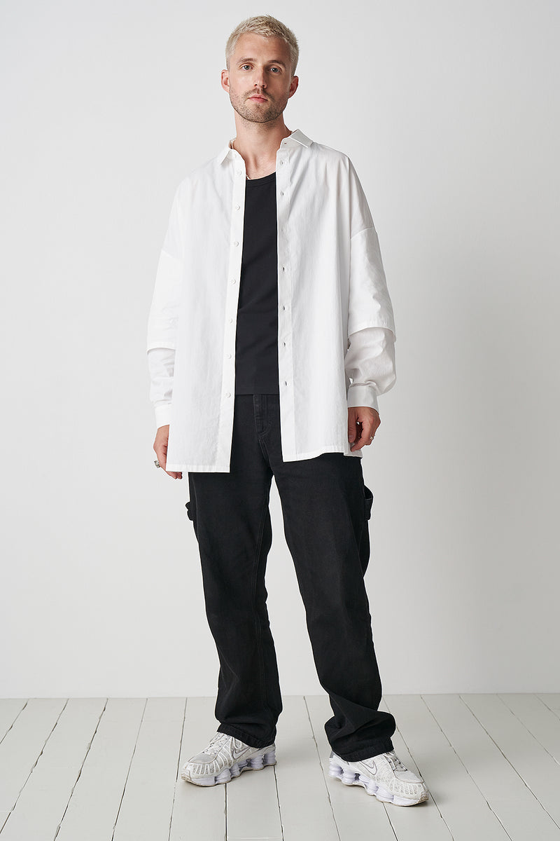 100% Organic Cotton Double Layer Oversized Shirt