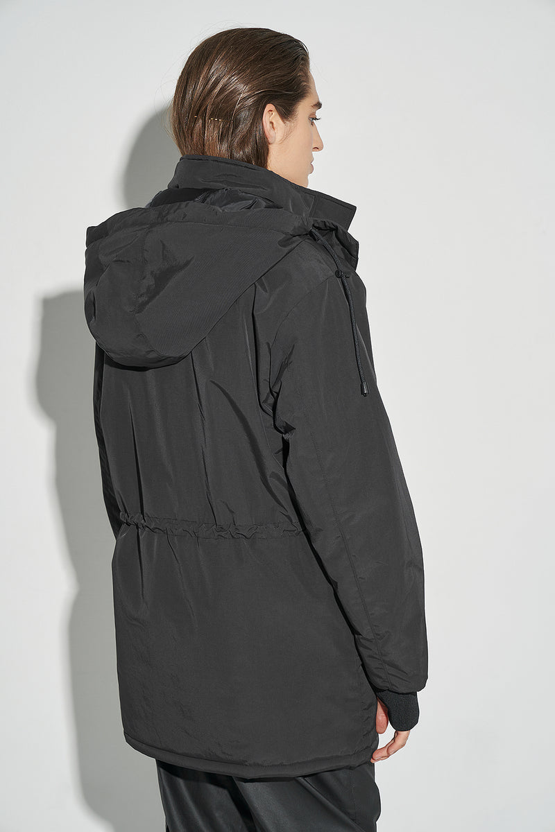 100% Recycled Drawstring Puffer Jacket