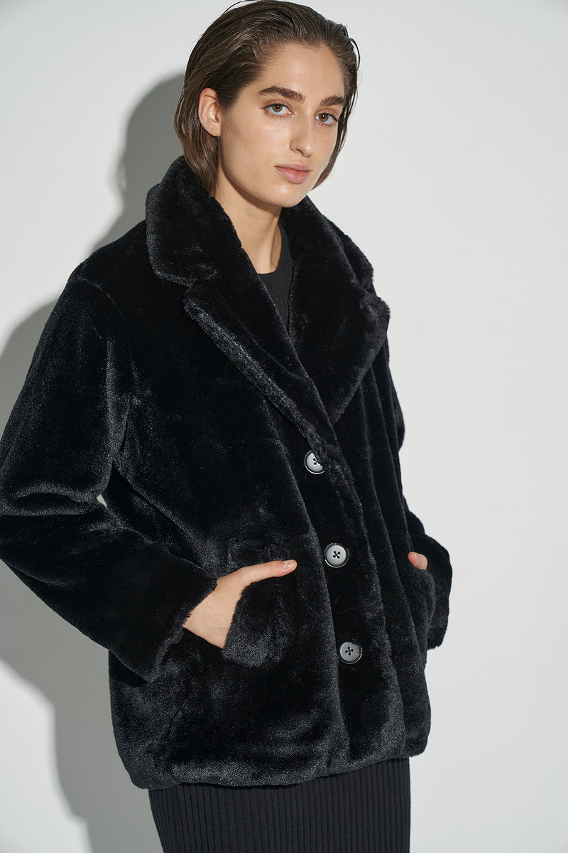 100% Recycled Faux Fur Jacket