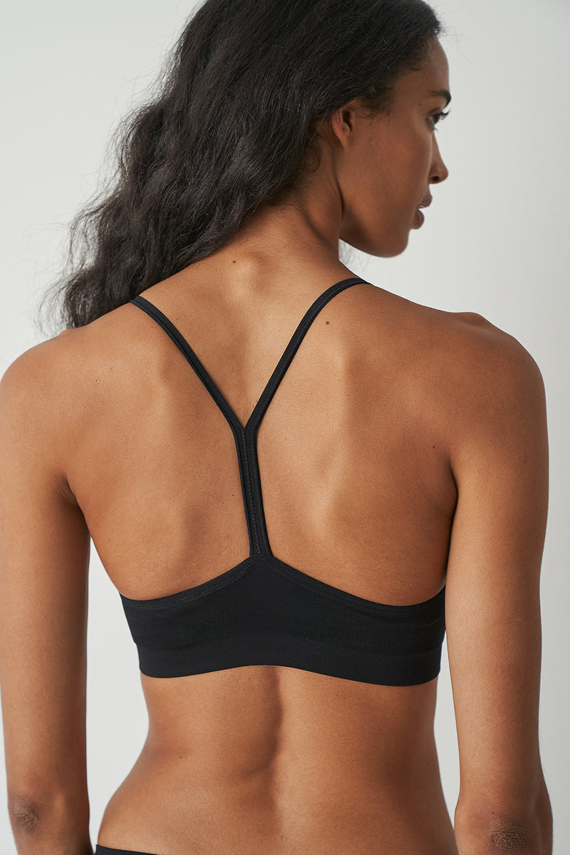 Halter Back Seamless Bra