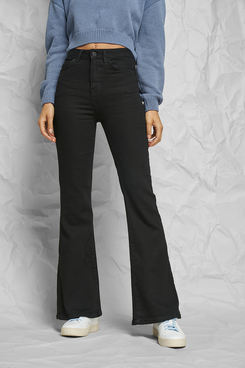 High Rise Flared Jeans