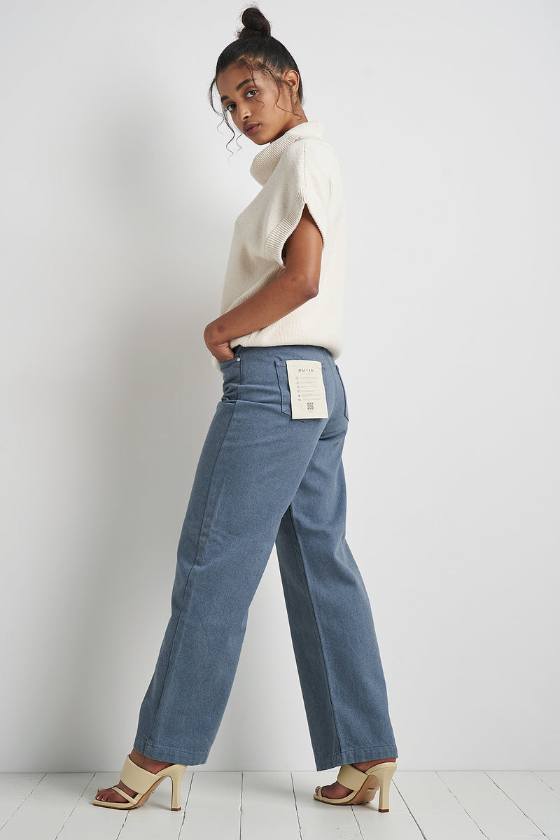 Upcycled High Waist Wide Leg Jeans