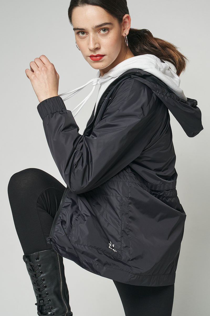 100% Recycled Hooded Windbreaker Jacket