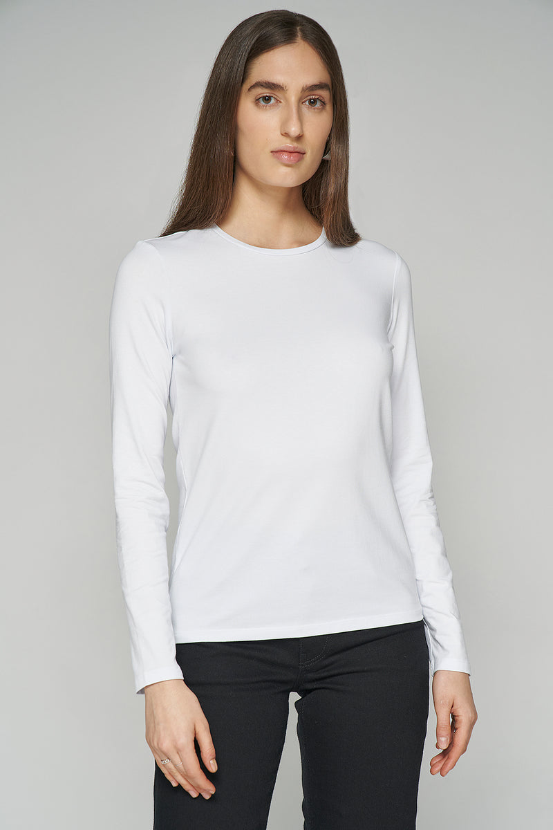 100% Organic Long Sleeve Crew Neck Top
