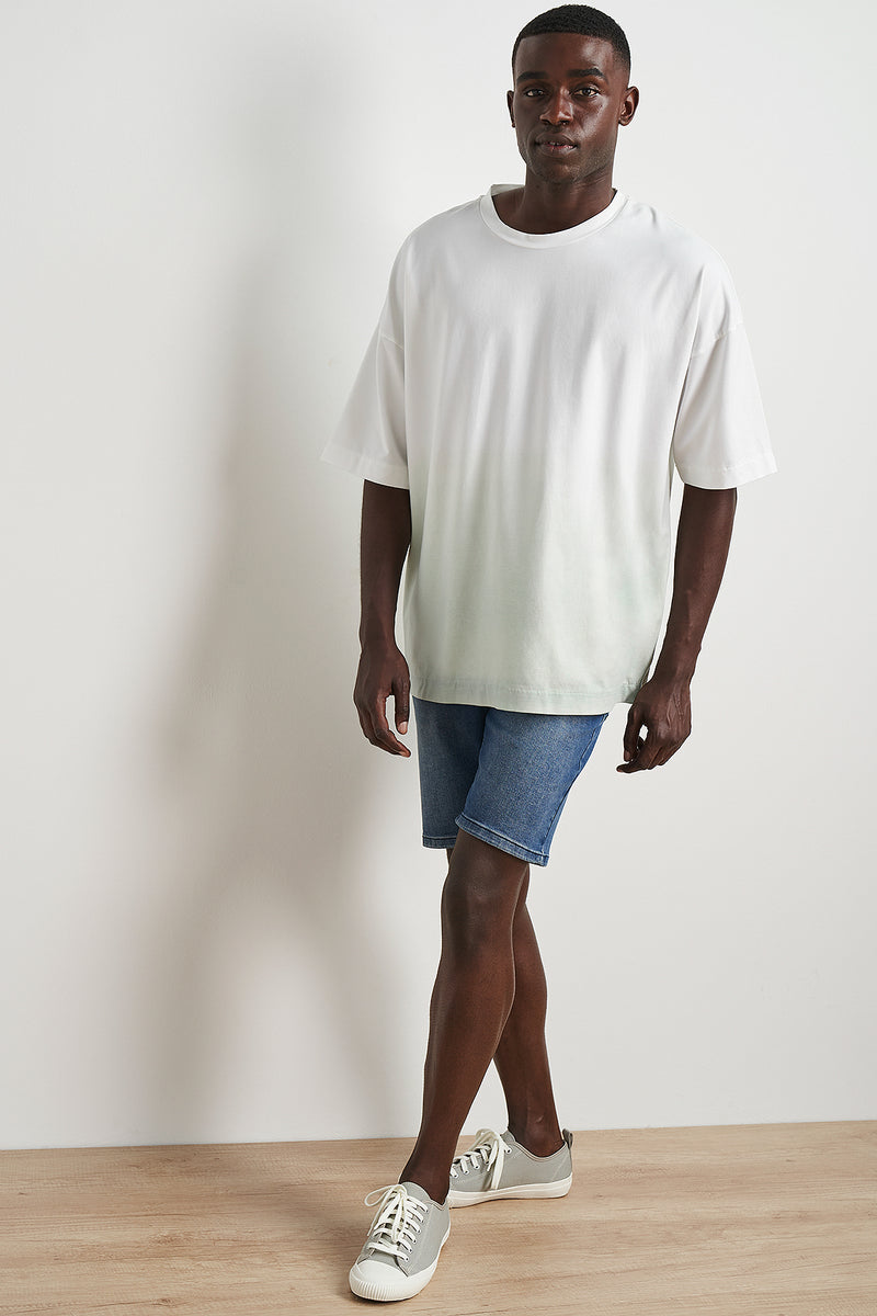 Ombre Effect Oversized T-shirt