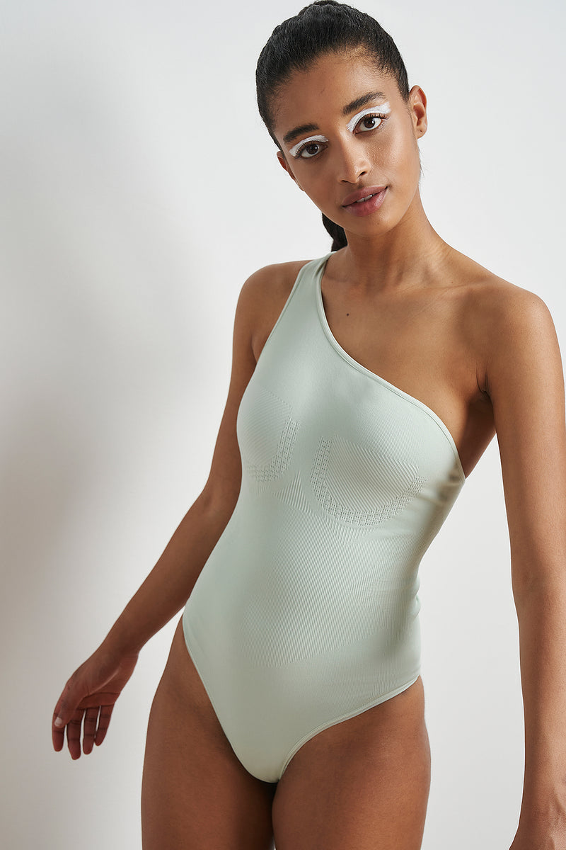One Shoulder Seamless Bodysuit
