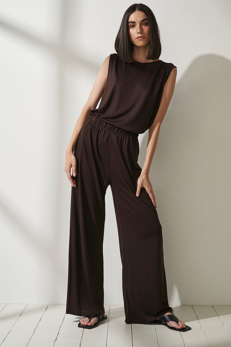 Lyocell Wide Leg Pants