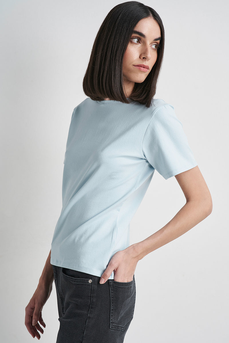 Open Back Short Sleeve T-shirt