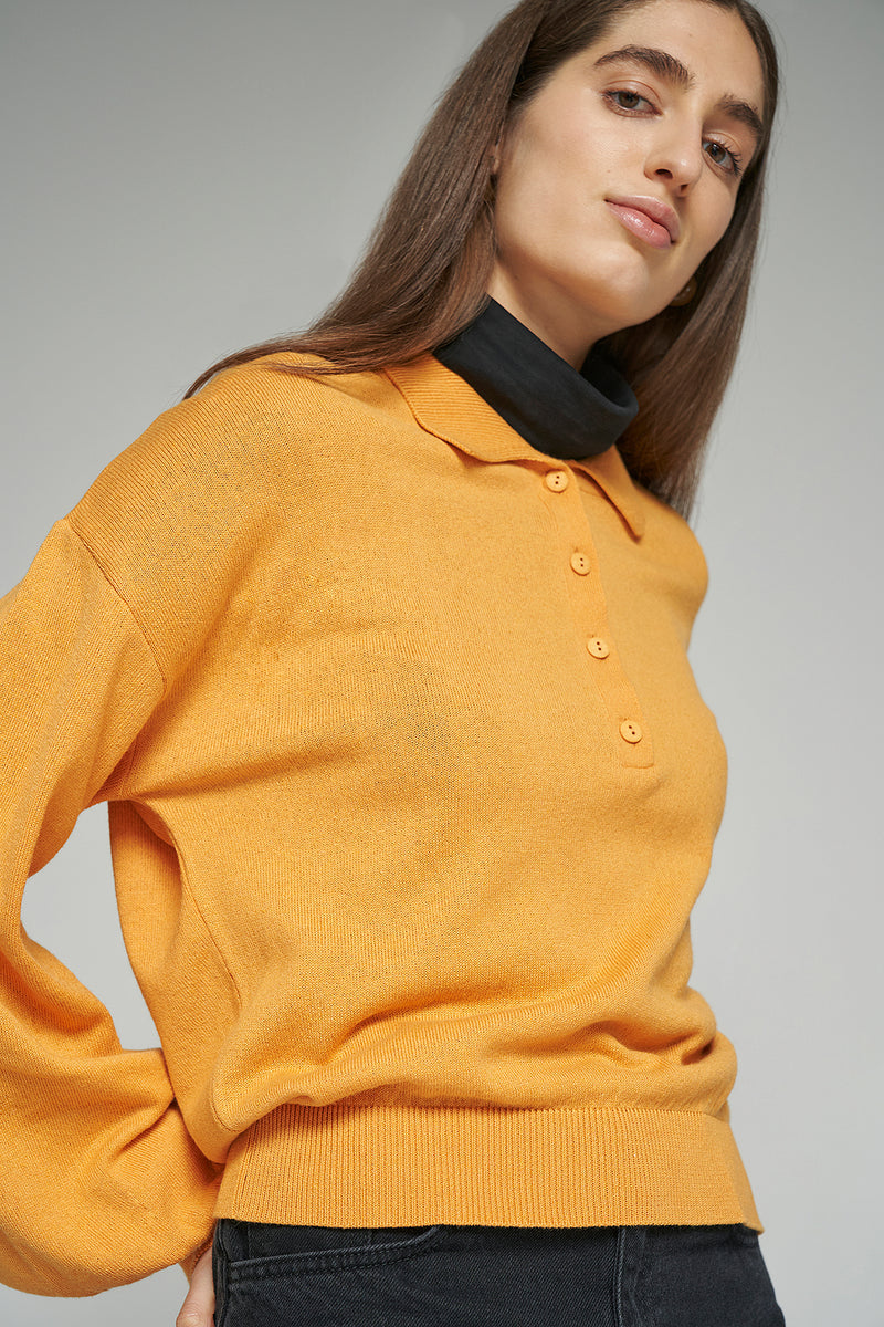 Polo Neck Lightweight Sweater