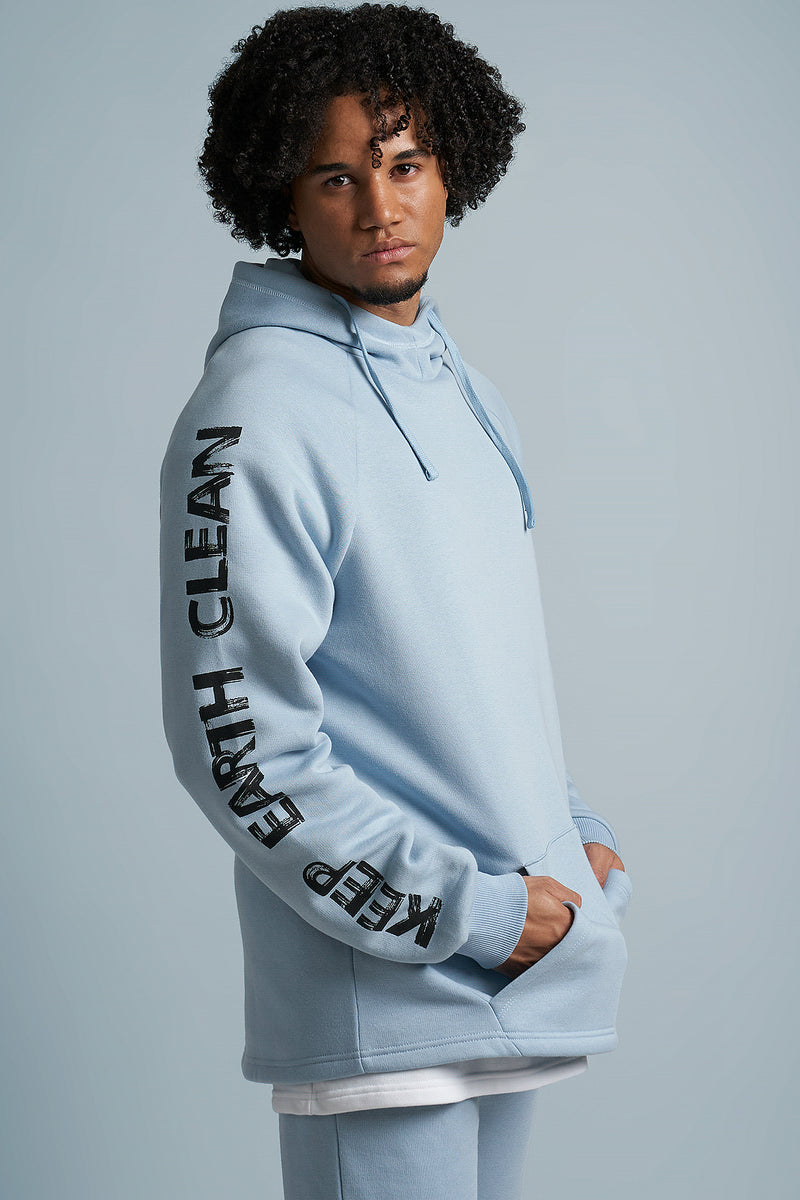 Keep Earth Clean Curve Hem Hoodie