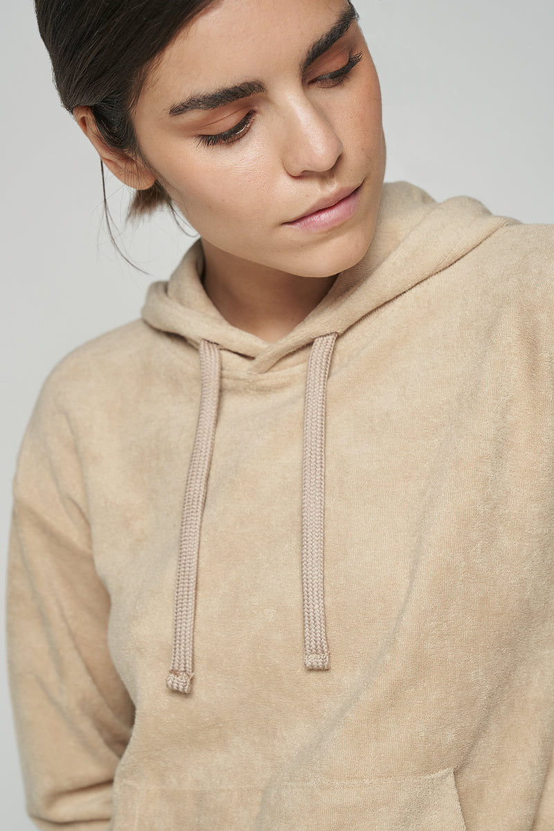 100% Organic Towelling French Terry Front Pocket Hoodie