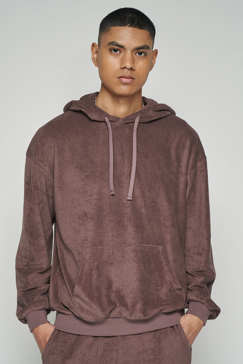 100% Organic Towelling French Terry Oversized Unisex Hoodie