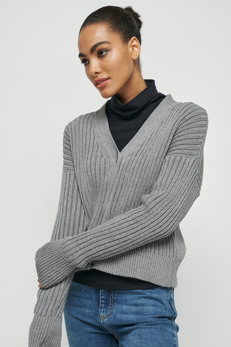 Ribbed Cropped Cardigan