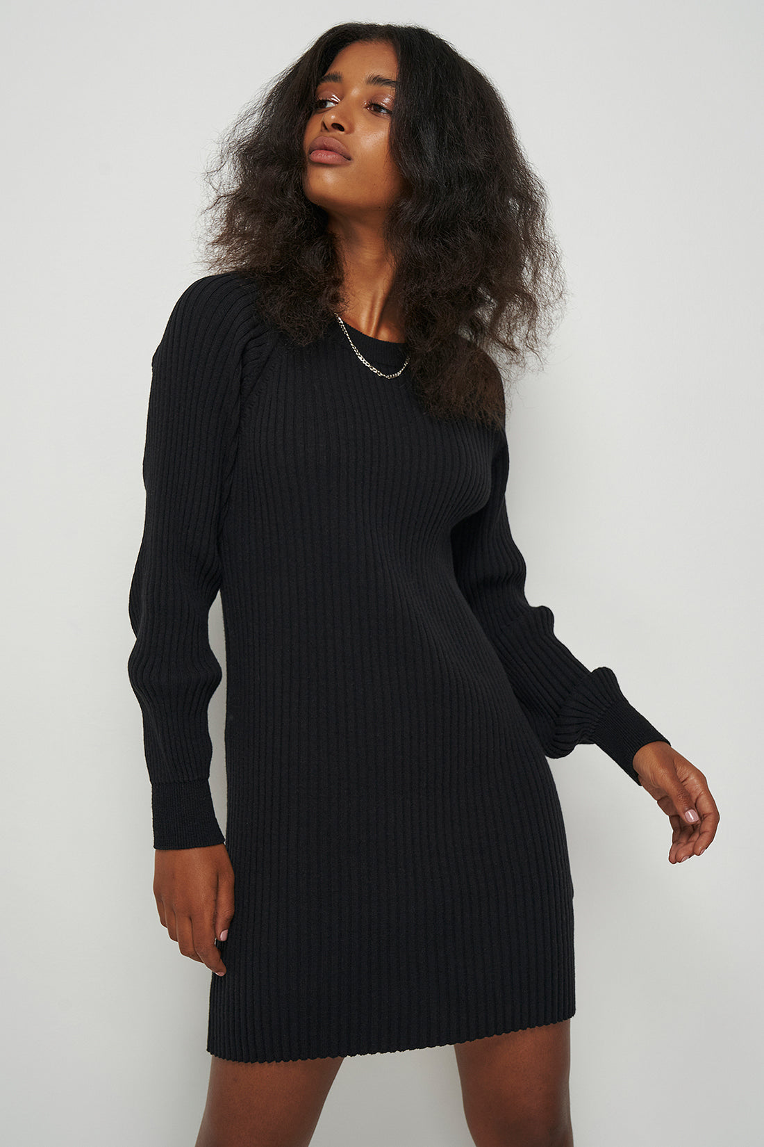Ribbed Knitted Midi