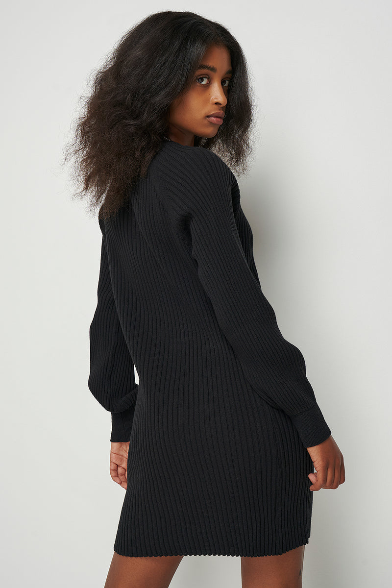 Ribbed Oversized Knitted Mini Dress