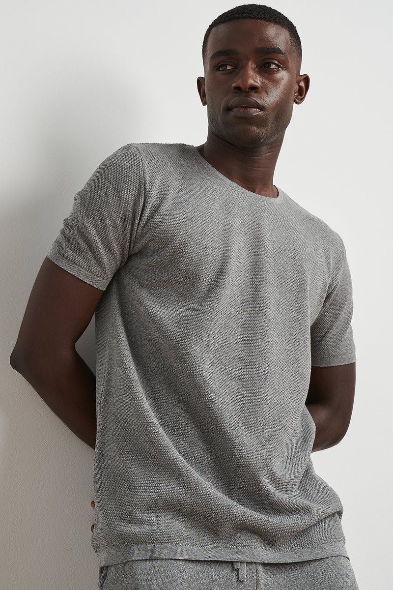 Roll Hem Knitted T-shirt